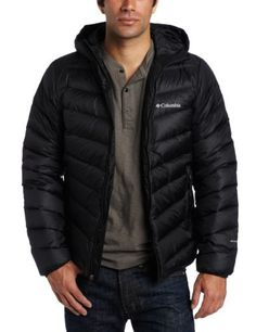 Columbia Men's Hellfire Down Hooded Jacket, Black, Large by Columbia. $179.95. When conditions are bitterly cold, turn to this jacket to crank up the heat; 550 fill power down insulation teams up with Omni-Heat® thermal reflective lining to deliver a one-two punch of warmth that will keep you comfortable when temperatures truly take a dive.