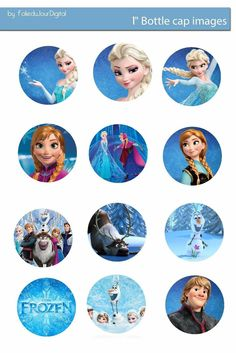 Folie du Jour Bottle Cap Images: Frozen : Free Digital Bottle Cap Images