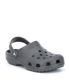 Crocs Kids& Classic Convertible Back Clogs - Slate Grey Youth Crocs Shoes Women, Lancome Gift With Purchase, Hype Shoes, Shoe Game, Strap Heels, Comfortable Shoes, Dillards, Women Lingerie, Clogs