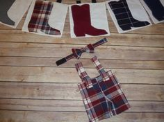 Cowboy Boots Banner with Grandpa's Overalls with by sewsueprops, $55.00