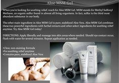 MSM Gel: buy from www.facebook.com/ForeverLivingSelby