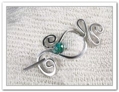 Aluminium Shawl Pin With Teal Glass Bead  Etsy RebbeltjesTouch, $13