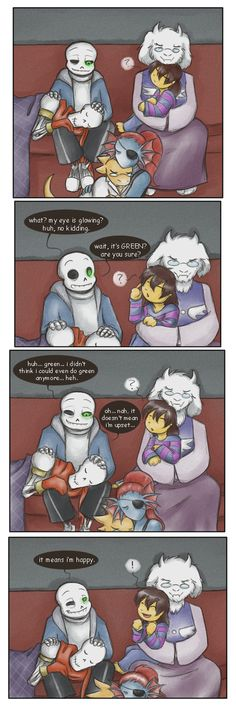 The rare and elusive happy Sans by zarla on DeviantArt <<< AWWWWW