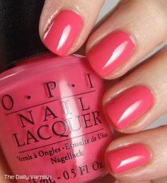OPI Strawberry Margarita - This looks SO pretty in person! - OPI Strawberry Margarita – This looks SO pretty in person! OPI Strawberry Margarita – This looks SO pretty in person! Colorful Nail Designs, Nail Art Designs, Margarita Nails, Cute Nails, Pretty Nails, Opi Nail Colors, Uñas Fashion, Opi Nails, Colors