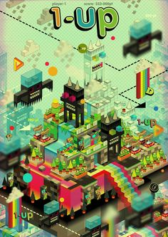Poked Studio isometric illustration