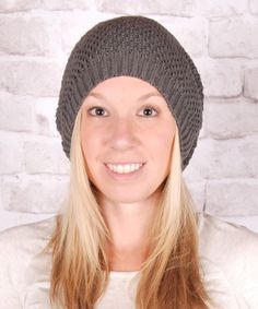 Another great find on #zulily! Olivia & Jane Gray Slouch Beanie by Olivia & Jane #zulilyfinds