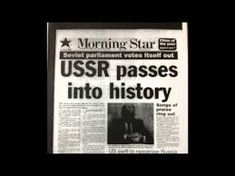 December The USSR formally dissolved Praise Songs, Soviet Union, American History, December 26, Cold War, Iron, Youtube, Us History, Youtubers