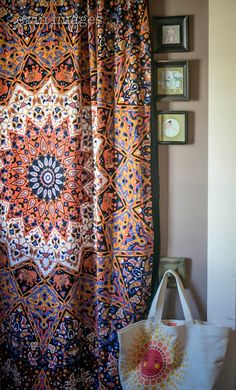 184. A Soul-Flower power for a Boho girl. Indian Star tapestry as a curtain, as simple as that to decorate and give life to your room.