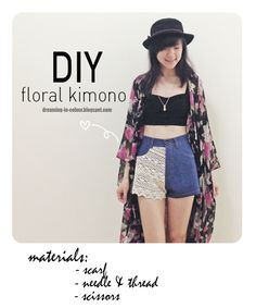 DIY kimono from scarf! Instructions are available on the blog!