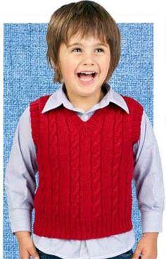 cabled v-neck vest pattern