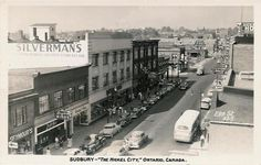 Sudbury - Elm Street C1950 - Silverman's Sudbury Canada, O Canada, Sales Image, Elm Street, Original Image, Ontario, Beautiful Places, Street View, City