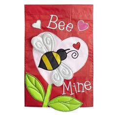 Bee Mine Garden Flag. Valentine ...