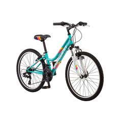 Girls Schwinn High Timber 24-Inch Mountain Bike, Blue Other