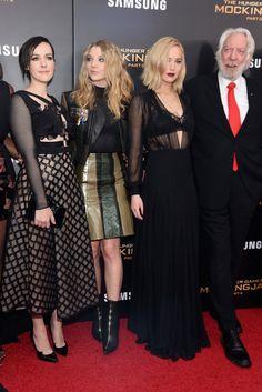 Pictured: Jennifer Lawrence, Jena Malone, Natalie Dormer, and Donald Sutherland