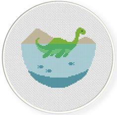FREE Cute Nessy Cross Stitch Pattern