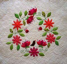 sandra leichner applique stitch | Beautiful work, so calm ....