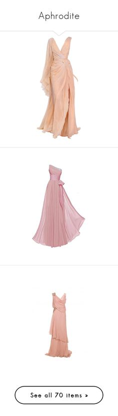 """Aphrodite"" by daughter-of-apollo92 ❤ liked on Polyvore featuring dresses, gowns, edits, dolls, evening gown, doll dress, red evening dresses, couture ball gowns, babydoll dress and couture evening dresses"