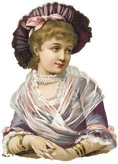Victorian Scrap - diecut woman blue-Free by Sassy Bella Melange, via Flickr