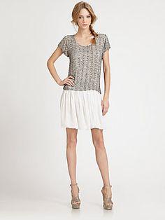Alice + Olivia Mora Ruffle-Bottom Dress