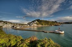 Town Beach and Banjo Pier Looe