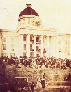 Inauguration of Jefferson Davis as President of the Confederate States of America, Montgomery, Alabama, 1861
