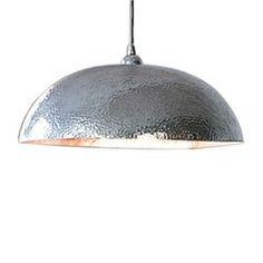 hammered steel pendant light | STL Living Large Iron Round ...