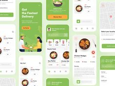 Food Delivery App - Food Delivery Service - Ideas of Food Delivery Service - Food Delivery App by Dibbendo Pranto Delivery App, Meal Delivery Service, Delivery Food, Design Food, Ui Ux Design, Dashboard Design, Graphic Design, Design Android, Play Game Online