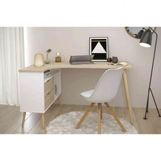 Our beautiful Parisot Norsk writing desk is a sleek and stylish addition to your home or office with its ergonomic design. Home Office Design, Home Office Decor, Office Furniture, Office Desk, Home Decor, Home Office Table, Corner Office, My New Room, My Room