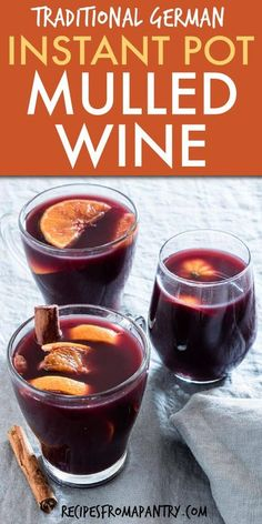 Instant Pot Mulled Wine is the perfect Christmas drink. Full of amazing flavor, its deliciously festive and SO easy to make. Get ready to make Glühwein all season long! Slow cooker and stovetop method also included. Click through to get this awesome recipe!! #instantpot #instantpotrecipes #instantpotmulledwine #wine #pressurecooker #pressurecookerrecipes #gluhwein #christmasdrink #pressurecookermulledwine #christmasrecipes #slowcookermulledwine #mulledwine #christmasrecipes #holidaydrinks Best Instant Pot Recipe, Instant Pot Dinner Recipes, Goulash, Fodmap, Ravioli, Brunch Recipes, Wine Recipes, Crockpot, Matcha Tee
