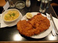 Gasthaus Poschl in Vienna!  Schnitzel as big as your head!