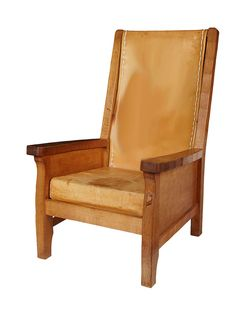 leather library chair   by Robert (Mouseman) Thompson