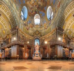 Austrian National Library. I don't know if I want this library or the beauty and the beast library more!
