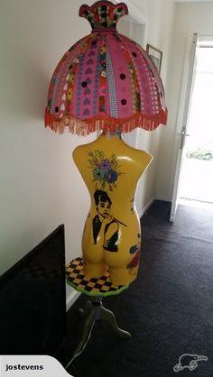 Mannequin floor lamp. Very funky. | Trade Me
