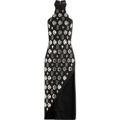 David Koma Embellished Wool Dress