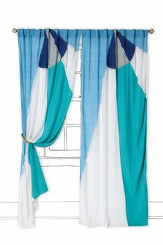 Spinnaker Curtain - Anthropologie.com