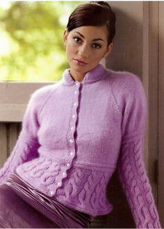 Ravelry: Elizabeth Bennet Cabled Cardigan pattern by Stefanie Japel