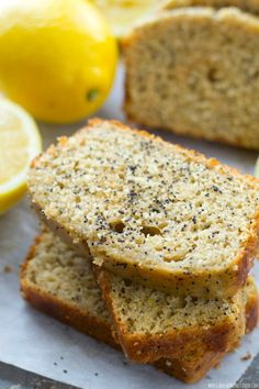 Glazed Lemon Poppyseed Bread
