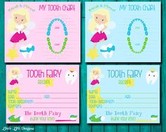Tooth Fairy Receipt & Tooth Chart - Boys and Girls Tooth Fairy Kit - Lost Tooth Receipt - Kids Tooth Fairy Certificate - Instant Download by LittleLifeDesigns on Etsy https://www.etsy.com/listing/182067623/tooth-fairy-receipt-tooth-chart-boys-and