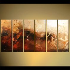 72 x 36  Huge Contemporary Abstract Painting by OsnatFineArt, $1449.00