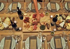 wine and cheese party table top ideas