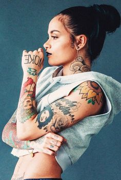 Kehlani All credit goes to models and. Sexy Tattoos, Body Art Tattoos, Girl Tattoos, Tattoos For Women, Small Tattoos, Arm Tattoo, Tech Tattoo, Spinal Tattoo, Chic Tattoo