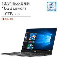 Dell XPS 13 Touchscreen Laptop - Intel Core - QHD+ x Office 365 Personal Gen Intel® Core Processor Killer 1535 Wireless-AC + Bluetooth Backlit Keyboard Thunderbolt Dell Xps, Core, Laptop, Beach Gardens, Palm Beach, Terrace, Graphics, Charts, Patio