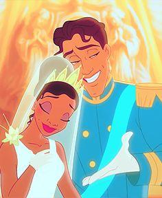 Tiana official Disney Princess) Prince Naveen (Prince of Maldonia) - The Princess and the Frog Tiana And Naveen, Disney Princess Tiana, Frog Princess, Prince Naveen, Disney Dream, Cute Disney, Disney Magic, Disney Art, Disney And Dreamworks