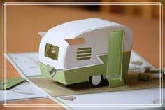 Herzlich Willkommen beim Papierfräulein: Explosionsbox zur Hochzeit Stampin Up, Wohnwagen