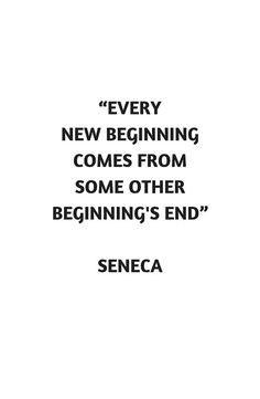 Stoic Philosophy Quote - Seneca - Beginning and End