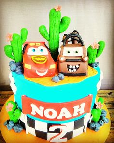 McLightening and Mater! Friendship goals. Birthday cakes for children available here.