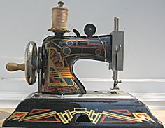 Antique Art Deco Child's Sewing Machine Germany. Click on the image for more information.