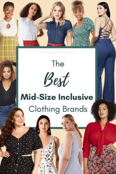 The Best Mid-Size Inclusive Clothing Brands • Simple Outfits, New Outfits, Best Brand, Good Things, My Style, Wooden Hangers, Project Runway, Women, Clothing Ideas