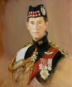 HRH The Prince of Wales (b.1948) is wearing the ceremonial uniform of the Gordon Highlanders of which he was Colonel in Chief before they were amalgamated in 1994