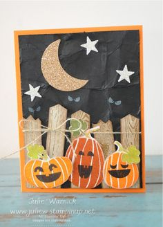 Stampin' Up! Fall Fest Halloween Card by Julie Warnick